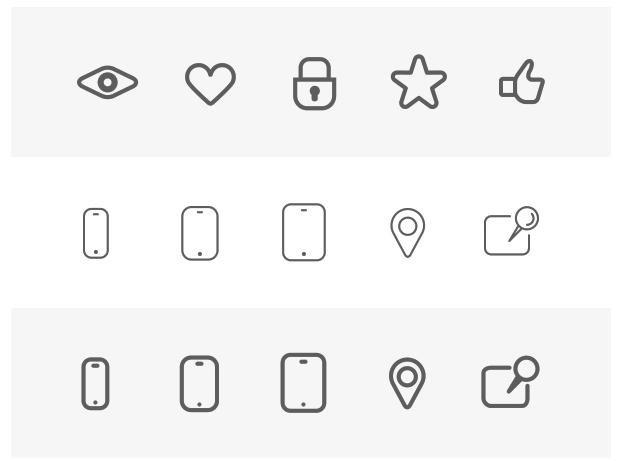 230 Wireframe Icons