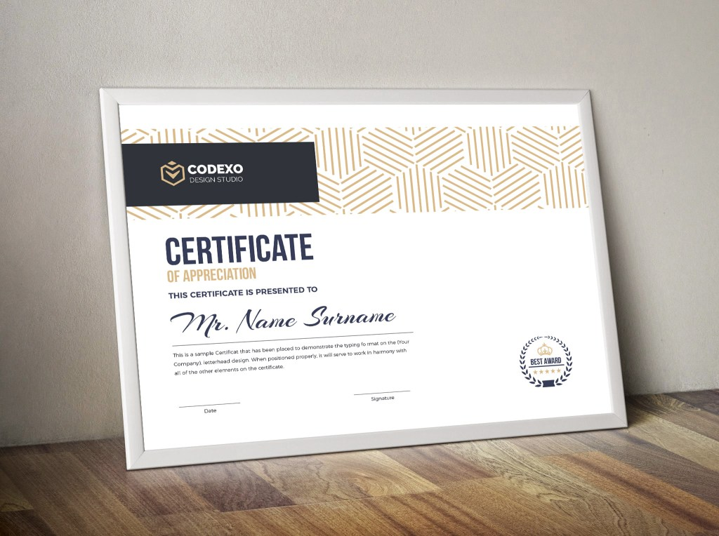 Demeter Professional Landscape Certificate Template