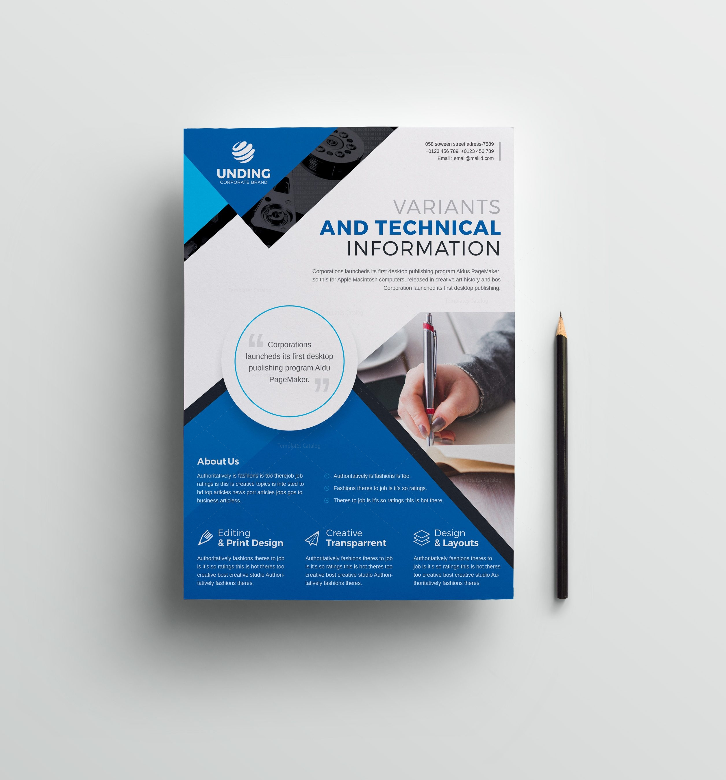 Classic Professional Business Flyer Design Template Graphic Mega Graphic Templates Store
