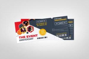 Concert Event Ticket Design