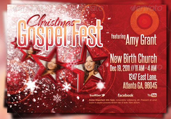Christmas Gospel Fest Flyer Template