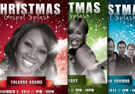 Christmas Gospel Splash Flyer Template