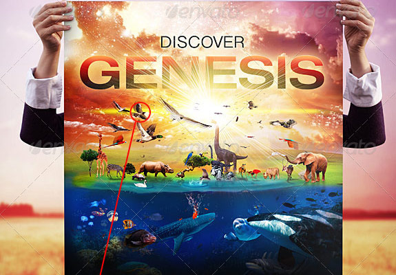 Discover Genesis Poster, Flyer and CD Template
