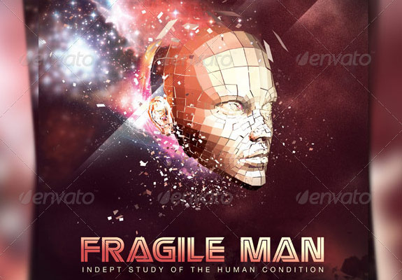 Fragile Man Church Flyer Template