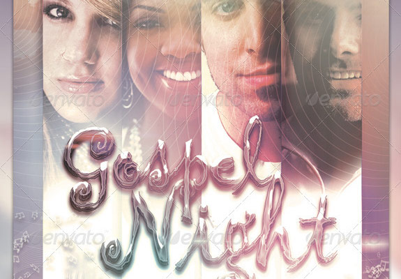Gospel Night Flyer Template