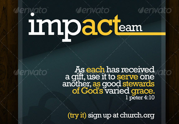 Impact Team Church Flyer Template