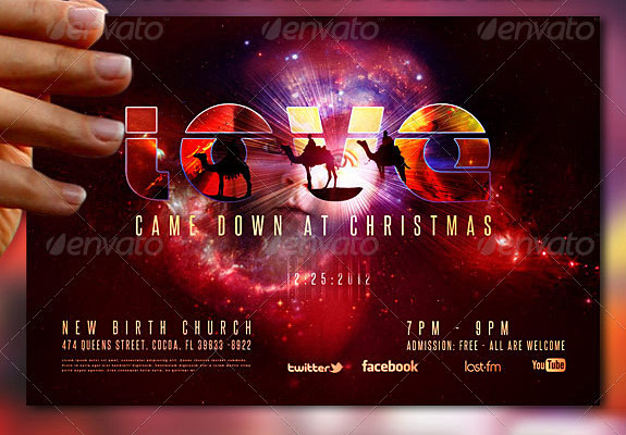 Love Came Down Christmas Flyer Template
