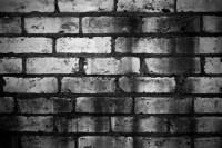 brick wall black white 2017 - Grasscloth Wallpaper