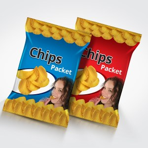 Photorealistic Multipurpose Snack Foil Pack Mock-Up