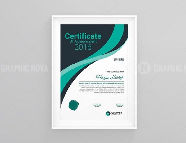 Performance Certificate Template Design