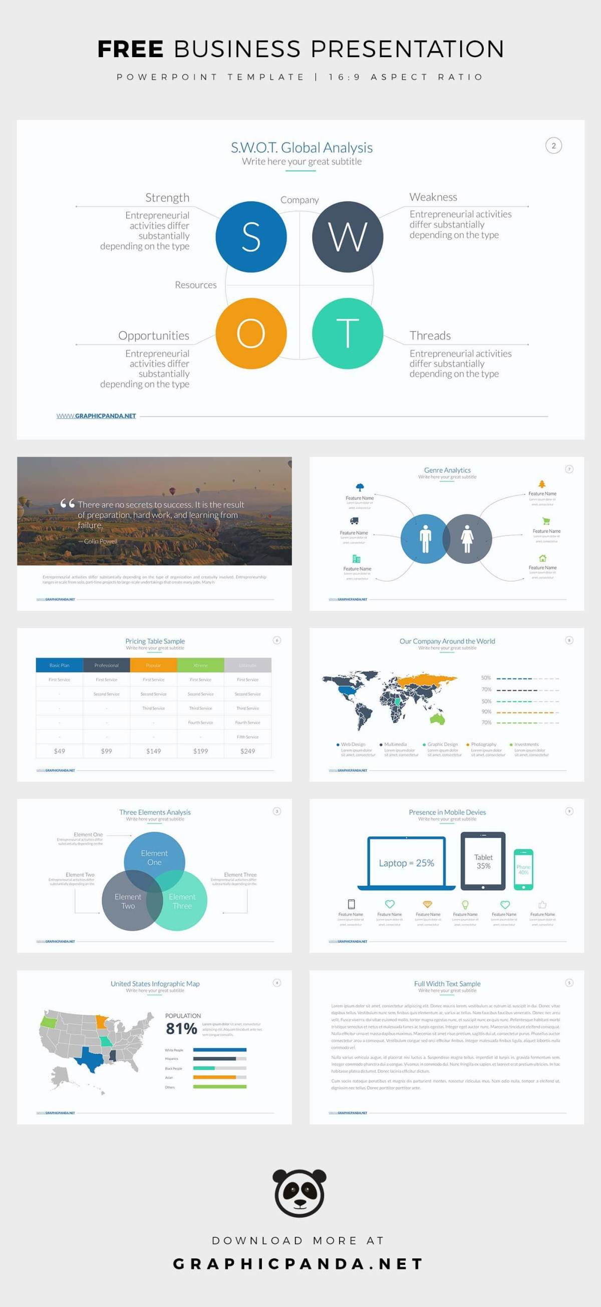 Free Business Powerpoint Templates | Professional and Easy