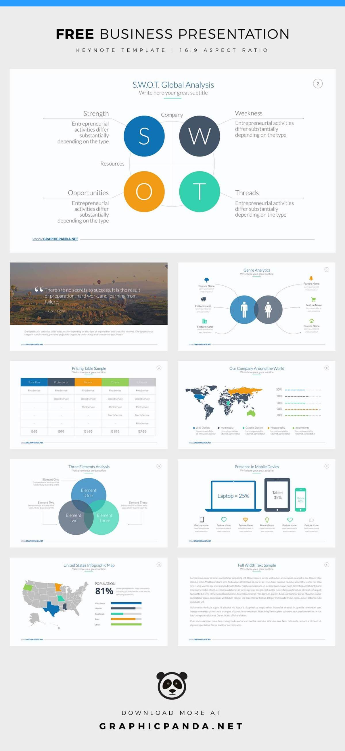 free business keynote template created by louistwelve