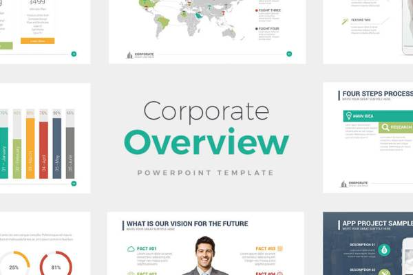 Corporate Overview PowerPoint Template - PowerPoint Presentation