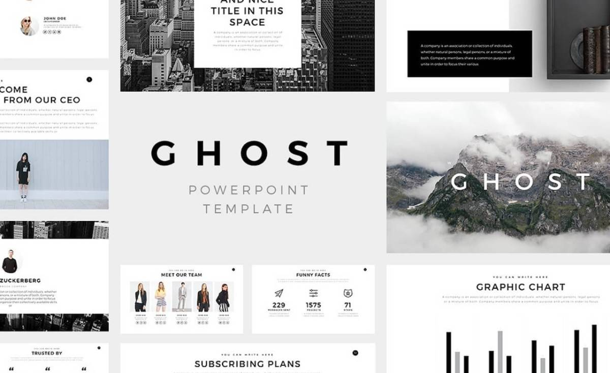 Ghost Minimal Powerpoint Templates