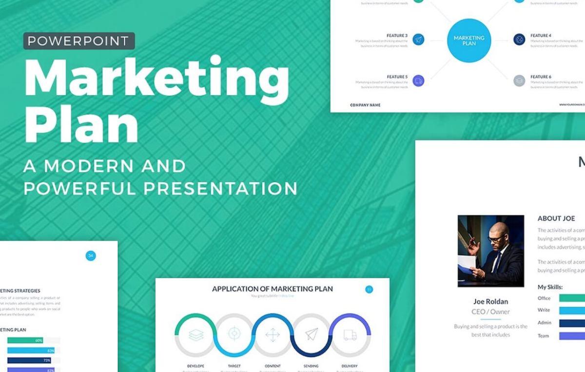 Marketing Plan Powerpoint Template -min