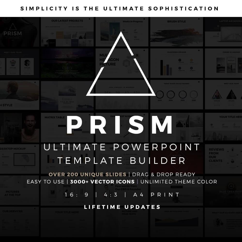 Prism minimal powerpoint template builder pptx about prism powerpoint template builder alramifo Gallery