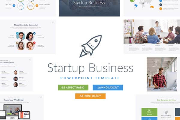 Startup Business PowerPoint Template Theme