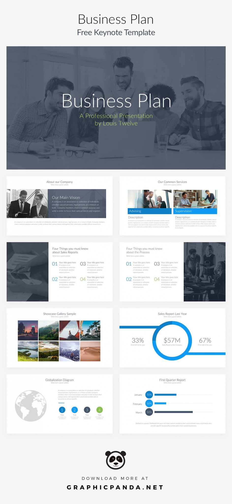 free keynote templates - business plan pitch deck, Powerpoint templates