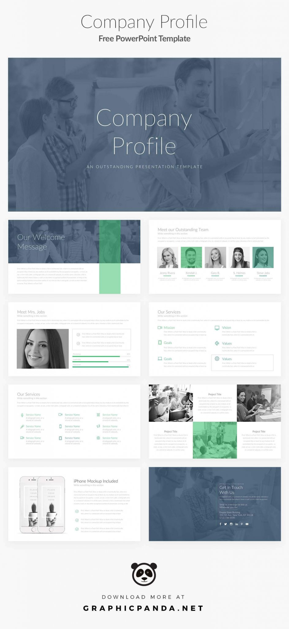 Free PowerPoint Template Company Profile   Best Free Powerpoint Template  2017  Corporate Profile Template