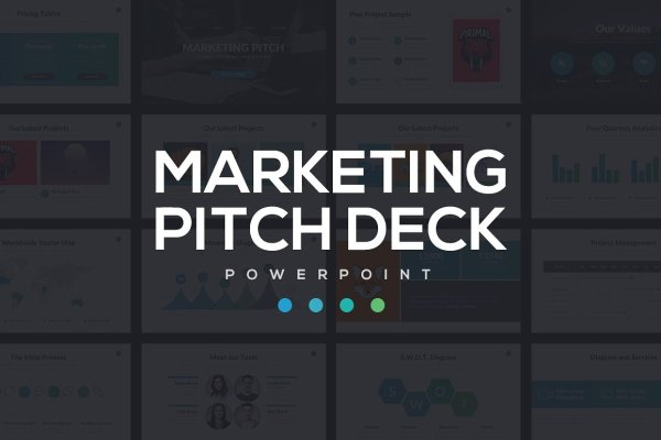 Marketing Pitch Deck Powerpoint Theme Template