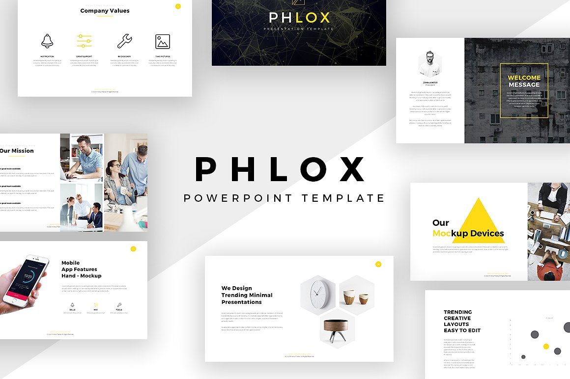 23 free and premium trending minimal powerpoint templates 2017 for Minimalist powerpoint template free