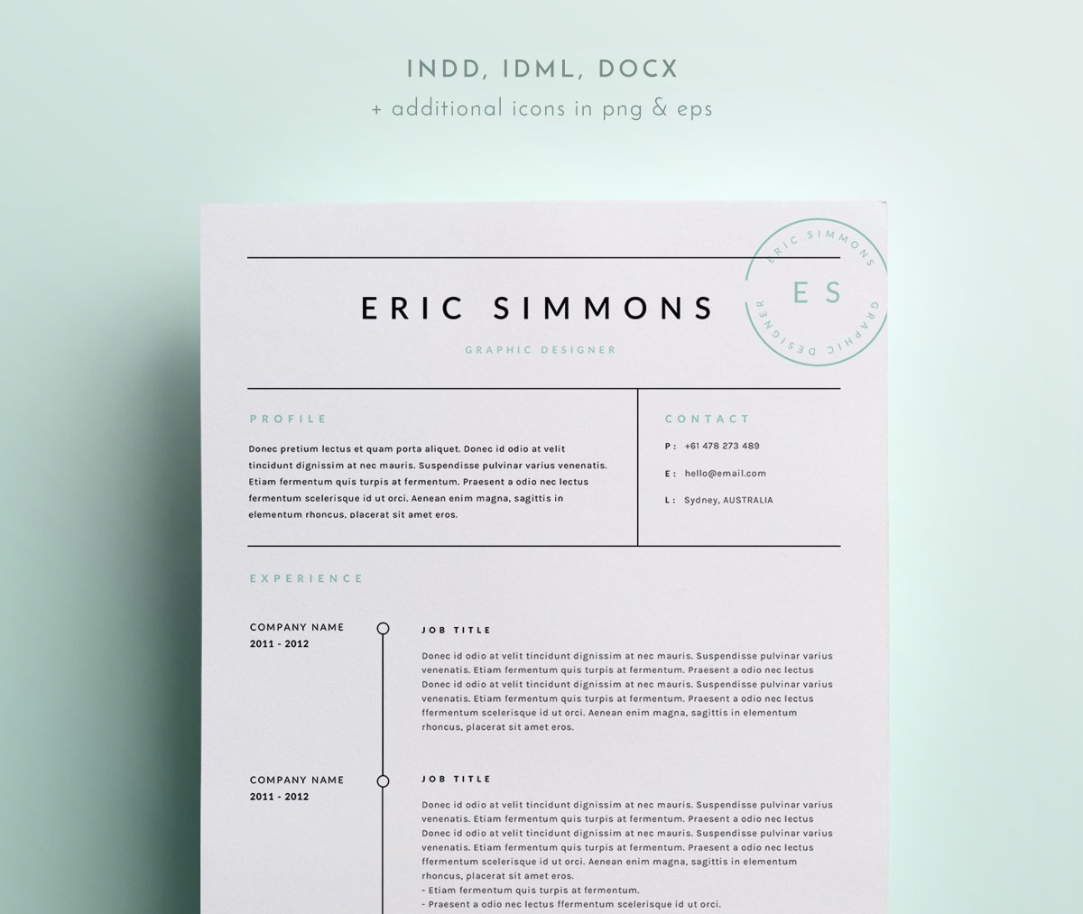 My Resume Is 2 Pages 20 Free And Premium Best Resume Templates Word Psd Indd