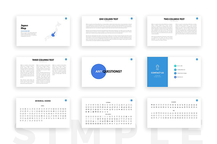 clean powerpoint template - business pitch deck pptx, Modern powerpoint