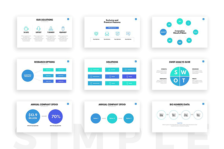 Clean PowerPoint Template - Business Pitch Deck PPTX