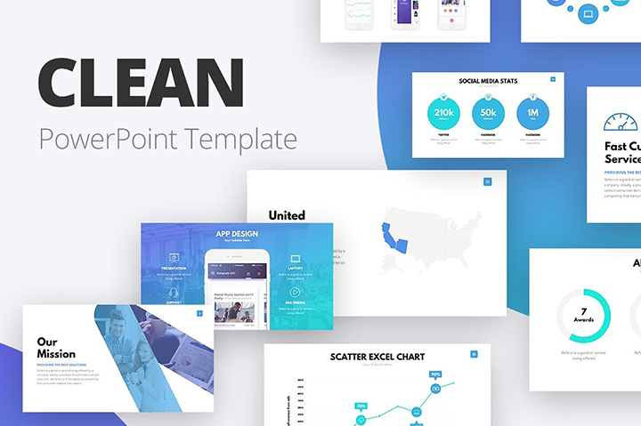 Clean powerpoint template business pitch deck pptx clean powerpoint template accmission Images