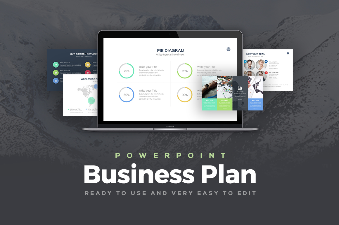 Business Plan Professional PowerPoint Template Keynote Google Slides - Keynote business plan template