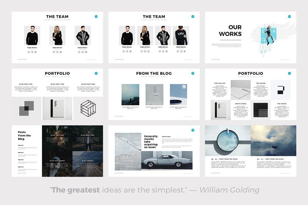 Elevation Minimal PowerPoint Template - best powerpoint templates