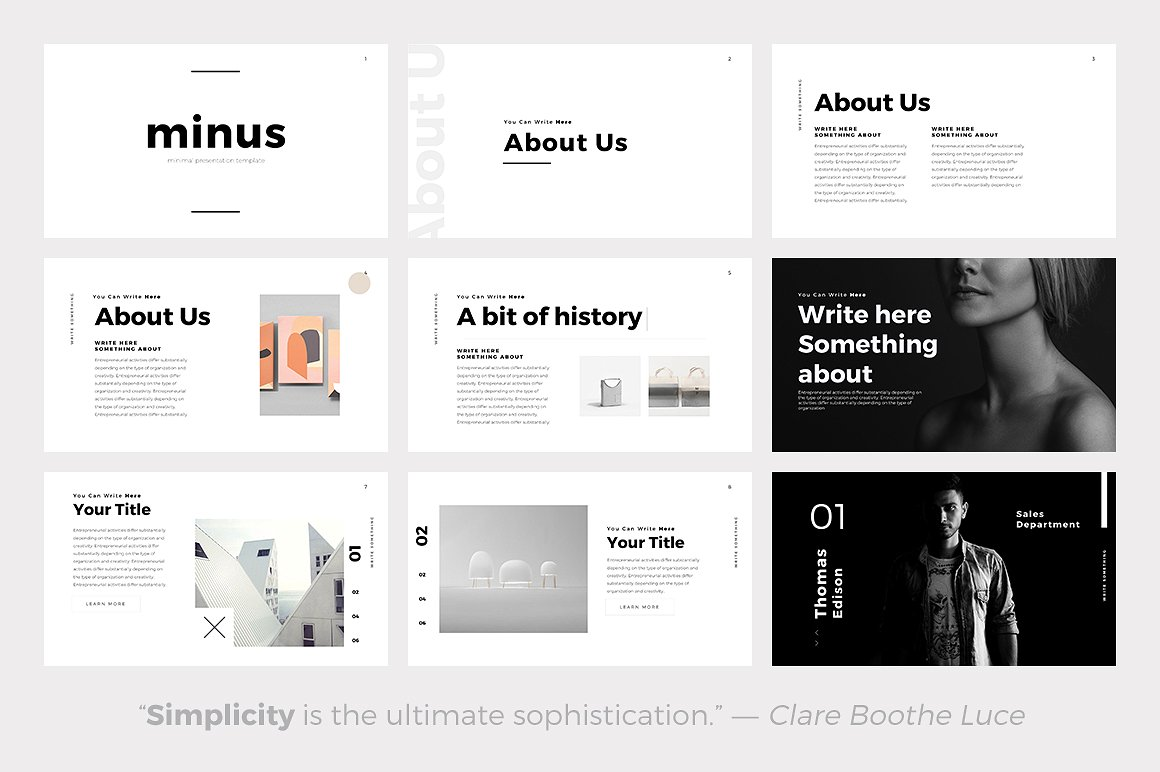 The 24 best minimalist powerpoint templates of 2018 best minimalist powerpoint template best minimal keynote themes best google slides themes toneelgroepblik Image collections