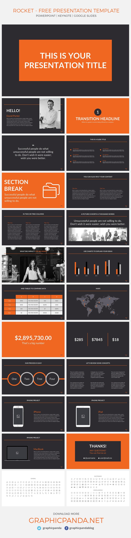 Rocket Free Presentation Template Powerpoint, Keynote, Google Slides