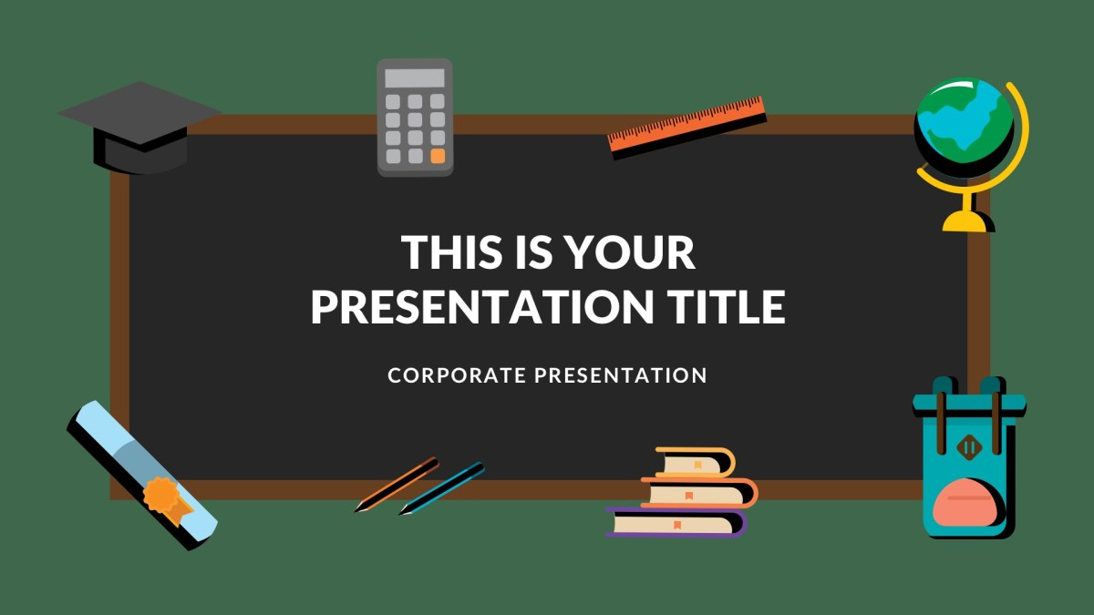 blackboard free google slides theme powerpoint keynote themes