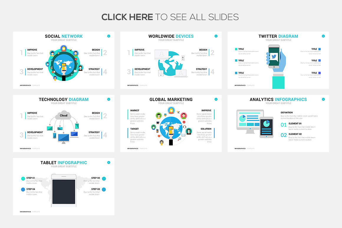 Devices Infographic Template - PowerPoint Template, Keynote Themes, Google Slides