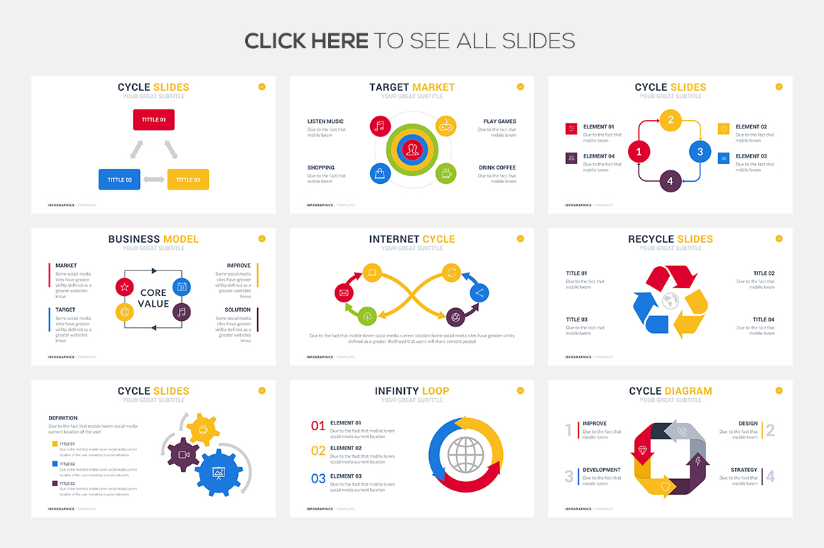 Cycle Infographic Templates - PowerPoint Templates - Keynote Themes - Google Slides.psd