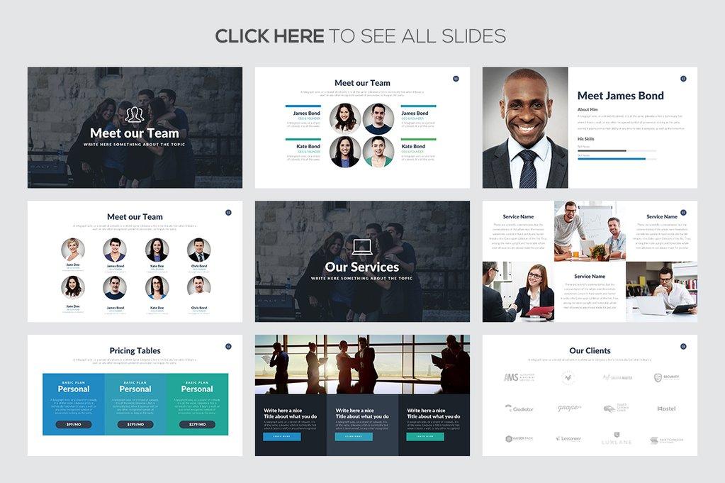 Marketing Pitch Deck - PowerPoint Templates - Keynote Themes - Google Slides