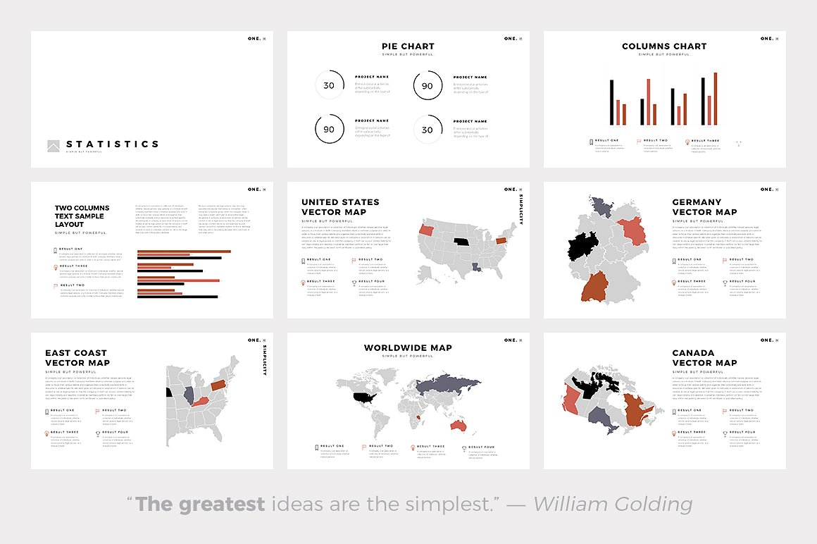 One Minimal PowerPoint Template
