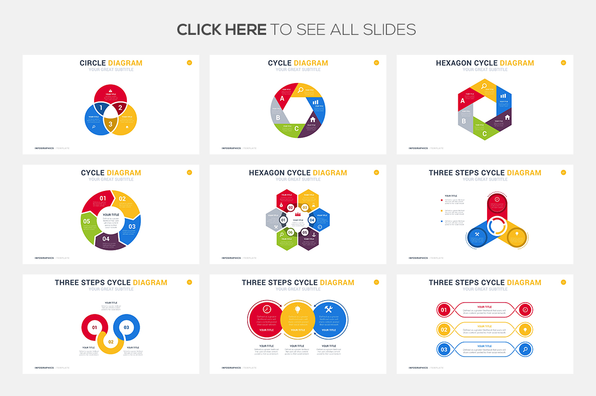 74 Cycle Infographic Template Powerpoint Keynote Google Slides