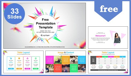 Abstract Triangle Google Slides Presentation