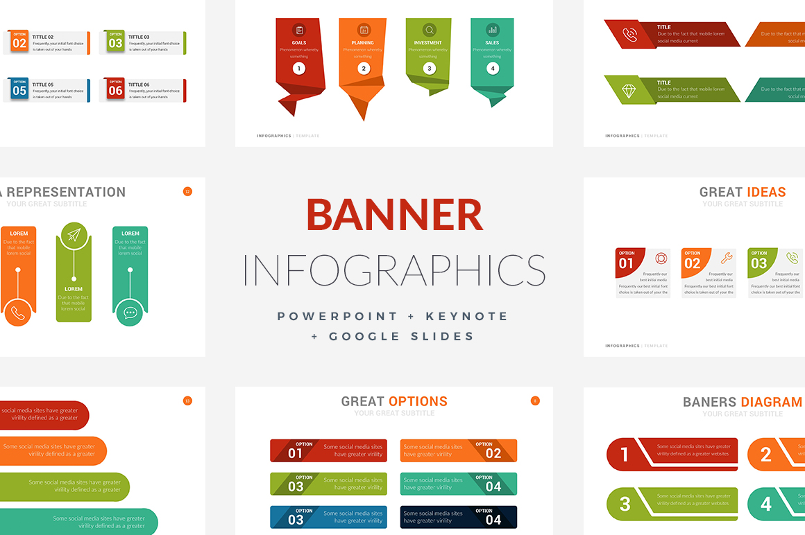 20 banner infographic templates powerpoint keynote google slides