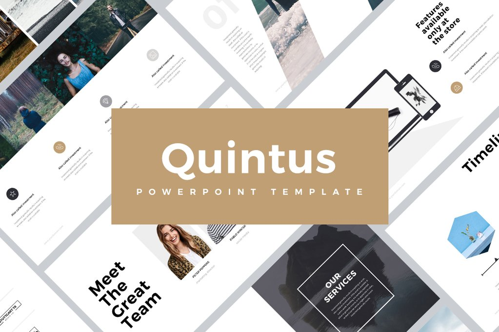 Quintus minimal powerpoint template quintus minimal powerpoint templates keynote themes google slides toneelgroepblik Images