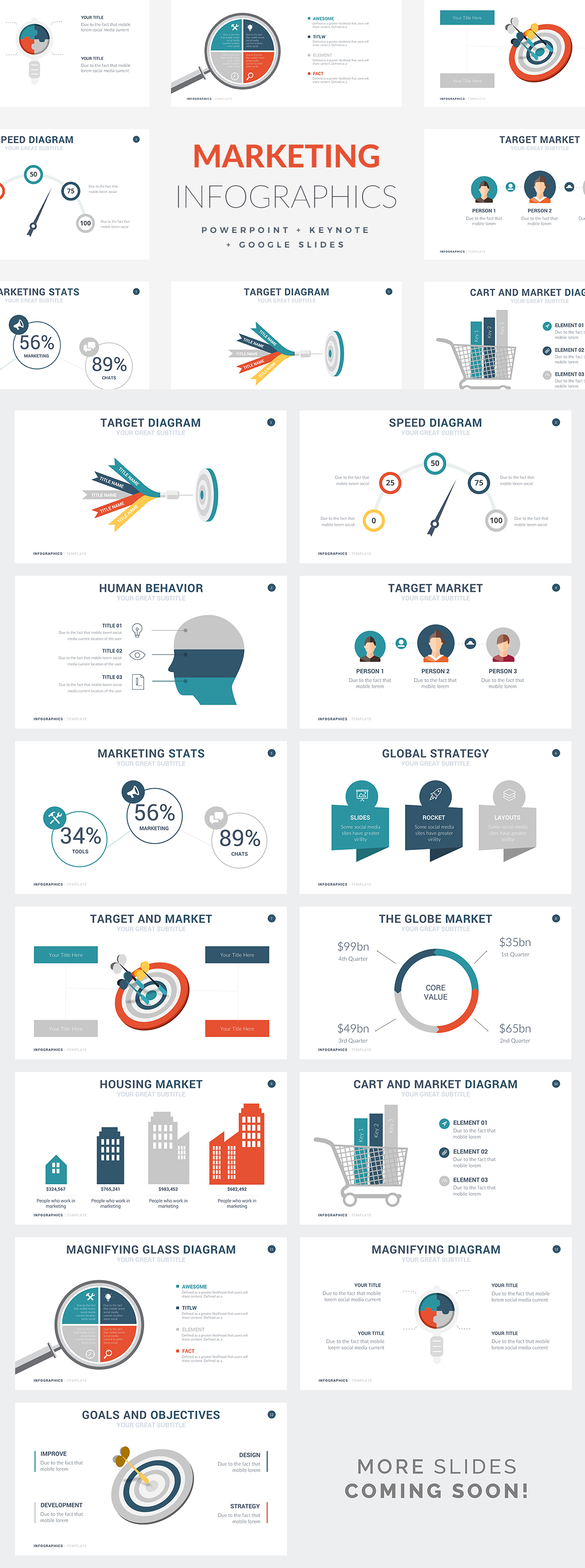 Marketing Infographic Templates - PowerPoint Templates - Keynote Themes - Google Slides