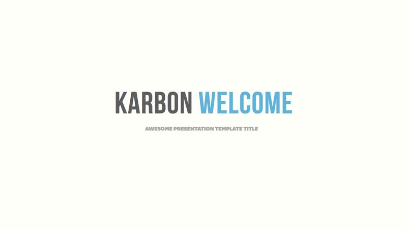 Karbon - Keynote Presentation Template