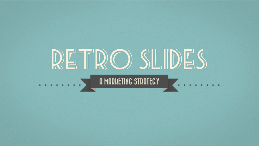 Retro Slides - Keynote Template (Full HD)