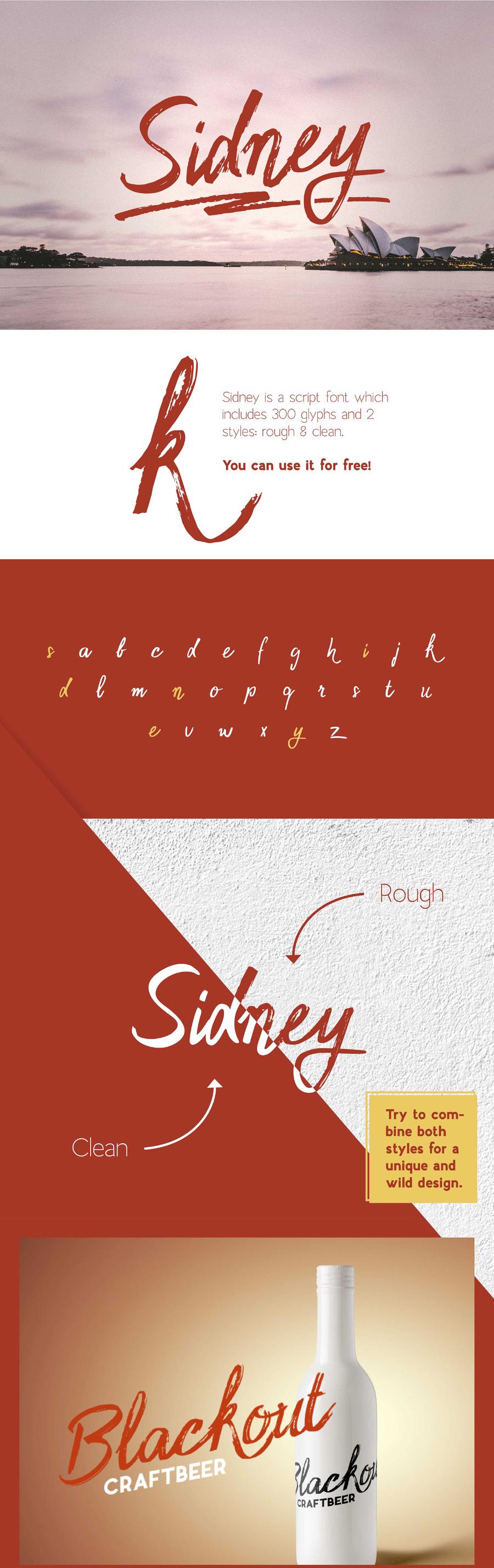 Sidney Free Font