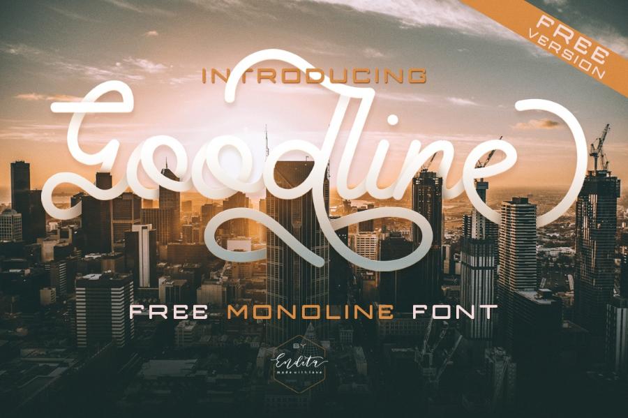 Goodline Free Font