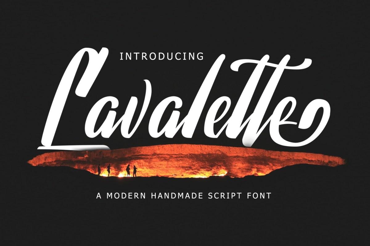 01 - Lavalette Script Free Font