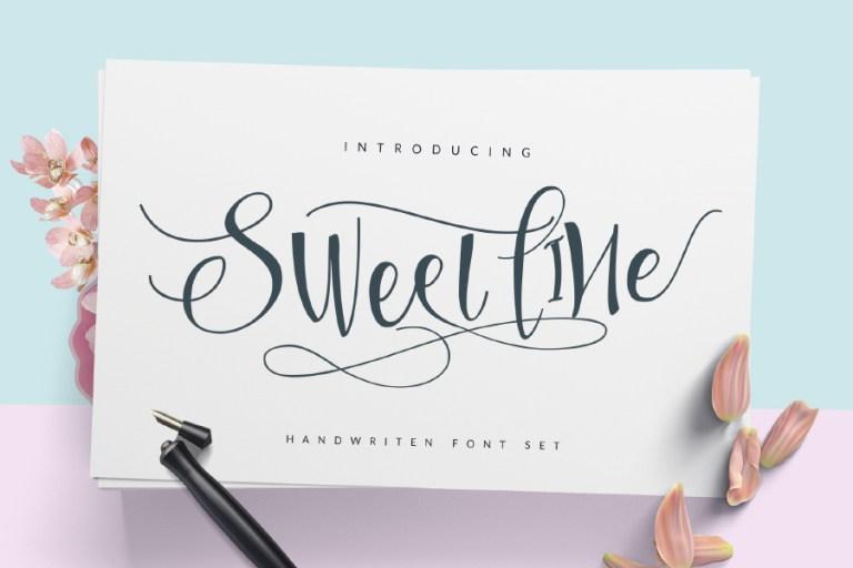 Sweetline Script Free Font Demo