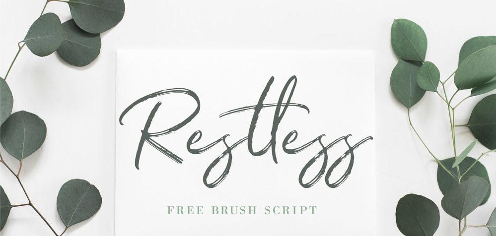 Restless Free Brush Script Font